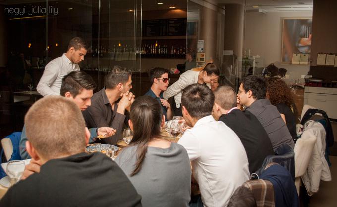 Perényi András az Entrepreneurship Club of Pécs előadása utáni vacsorán