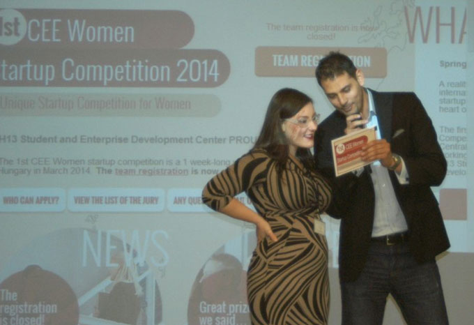 Perényi András a CEE Women Startup Competition műsorvezetője