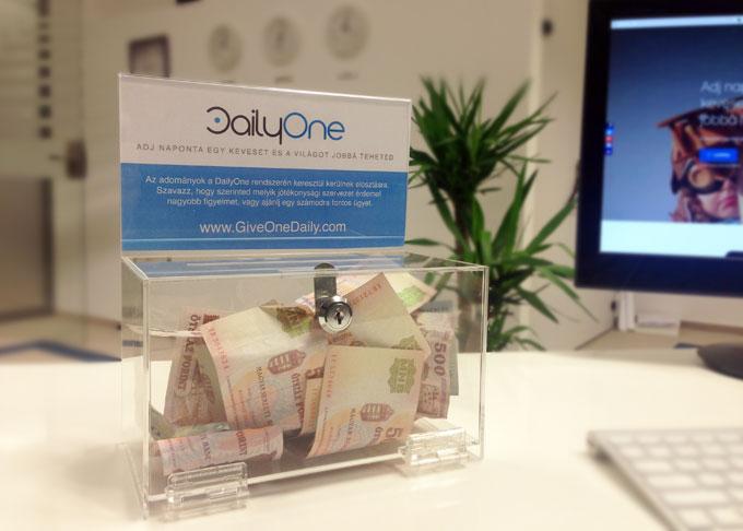 DailyOne adománygyűjtő rendszer - béta verzió (MVP)